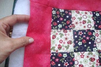 Junte seu nine-patch com a manta acrílica