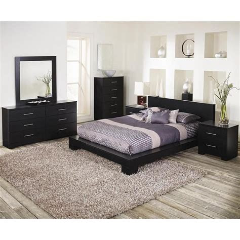 brooklyn  piece king bedroom set  grainy cinder oak