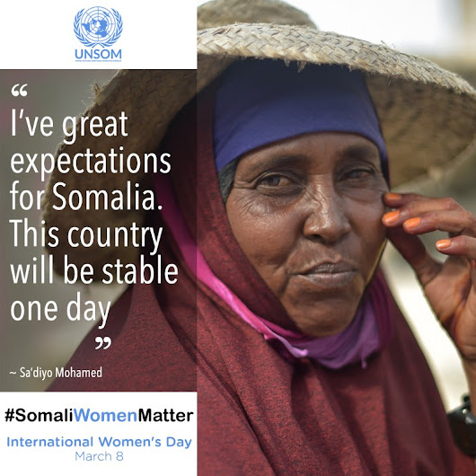 "UNSOM on Twitter: ""Somali women continue to be marginalised,despite their contributions to maintaining everyday life #SomaliWomenMatter """