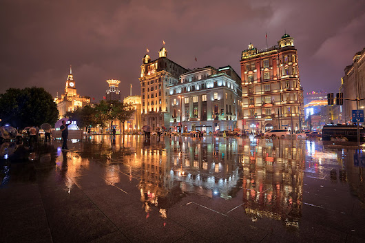 Rain on the Bund in Shanghai | Stuck in Customs