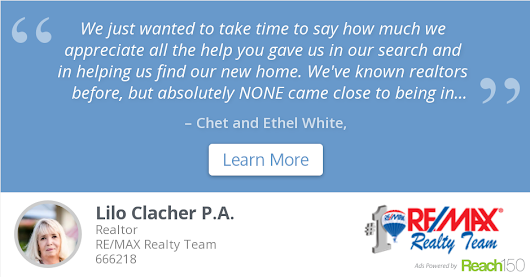 Chet and Ethel White recommends Lilo Clacher P.A.