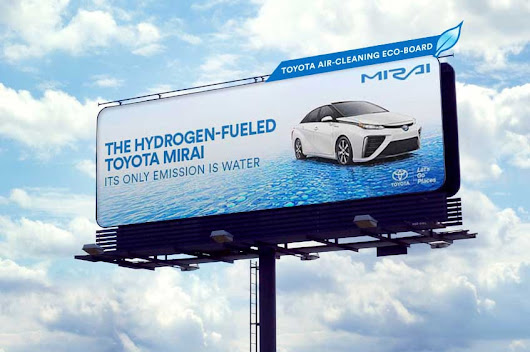Toyota Mirai Billboard Cleans the Air - Motor Trend
