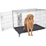 "Animaze 2-Door Folding Dog Crate, 48.5"" L x 30.2"" W x 32"" H, XX-Large, Black"