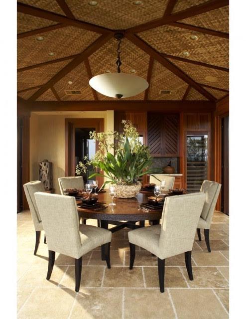 kukio dining tropical dining room