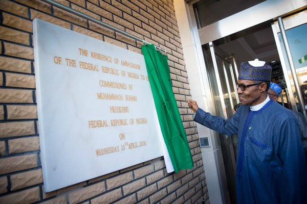 PMB commissions the new residence of the Nigerian Ambassador to China