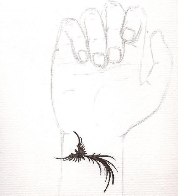 Phoenix Tattoo On Right Wrist