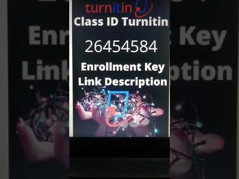 New Turnitin class id and enrollment key 2021 | #shorts | #youtubeshortvideo | #youtubeshorts