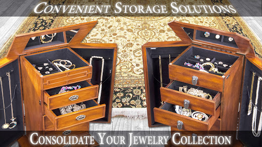 Jewelry Armoire With Floor Stand