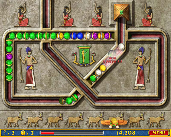 Play Free Luxor Puzzle Game Online Games Guide Your Scarab To Destroy Set S Evil Spheres Before They Reach The Pyramids