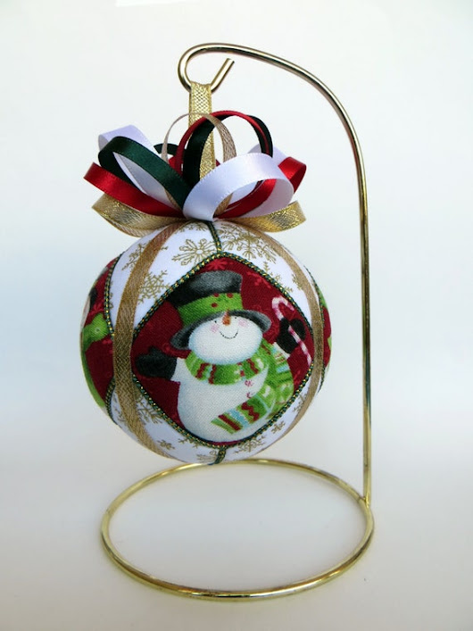 Christmas Ornament  Snowman by OrnamentDesigns on Etsy