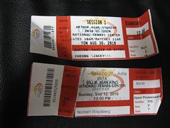 US Open 2010 Tickets - First Match and the Last Match