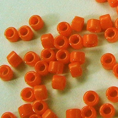 db1133 Delicas - 11/0 Japanese Cylinders - Opaque Mandarin (7.5 g)