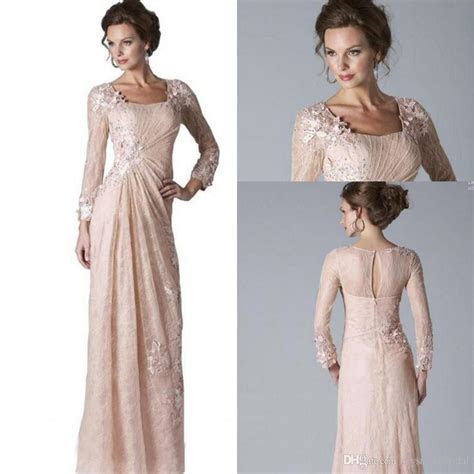 2019 Cheap Mother Of The Bride Dresses Long Sleeves Blush