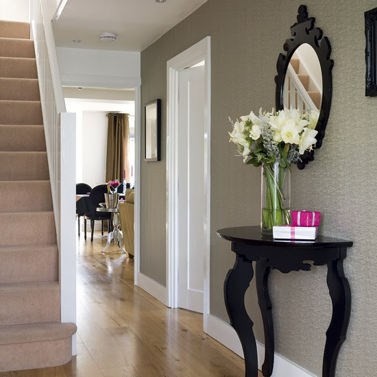 Chic hallway | Hallway designs | Hallway tables | housetohome.