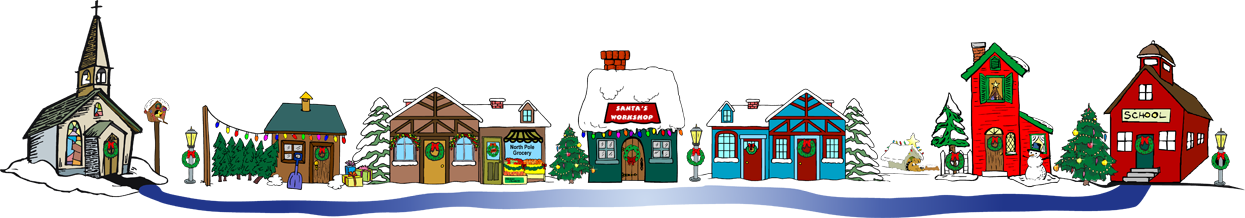 christmas village clipart - Free Clip Art Christmas