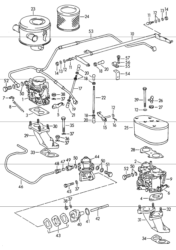 New 356 Fuel Line 1960 65 Aase Sales Porsche Parts Center