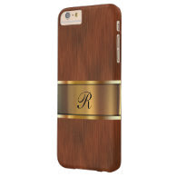 Business Professional Monogram Barely There iPhone 6 Plus Case