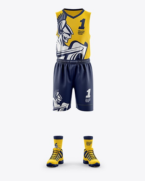 Download Mens Full Basketball Kit Jersey Mockup PSD File 209.33 MB ...