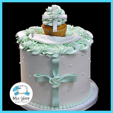 Buttercream 1st Communion Cake   Blue Sheep Bake Shop