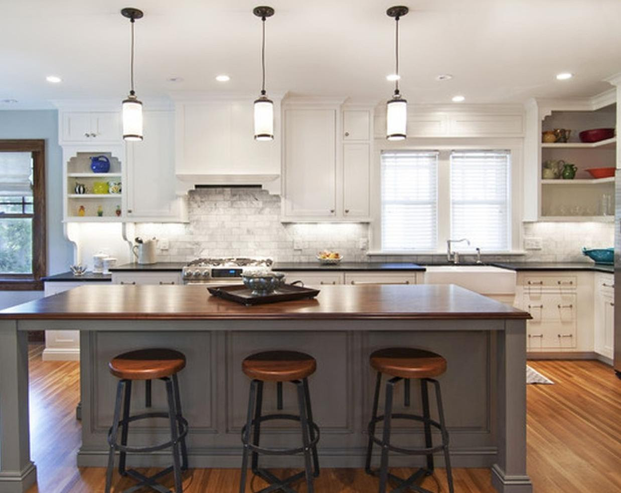 Kitchen Island Lighting considerations for updating your island lighting