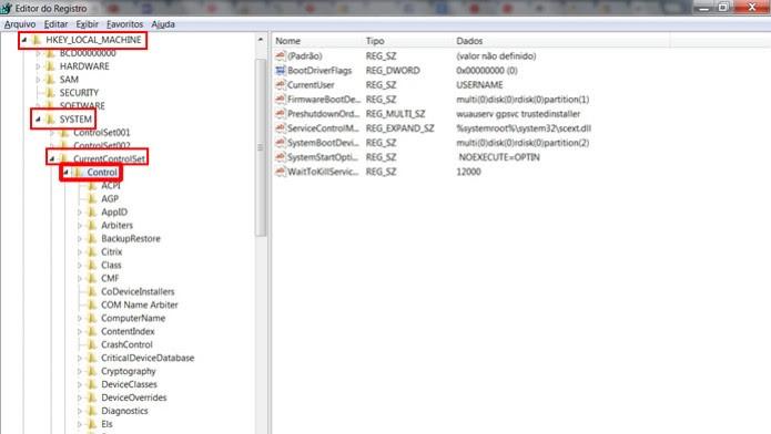 """Abra em sequência as pastas """"HKEY_LOCAL_MACHINE"""", """"SYSTEM"""", """"CurrentControlSet"""", """"Control"""", """"Session Manager"""" e """"Memory Management"""" (Foto: Reprodução / Daniel Ribeiro)"""