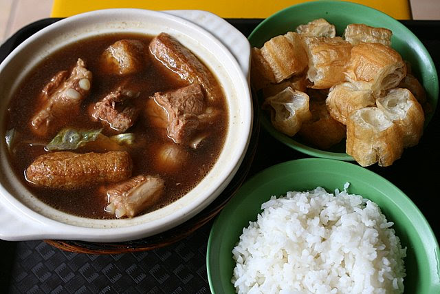 Bak kut teh is best enjoyed with dough fritters and rice