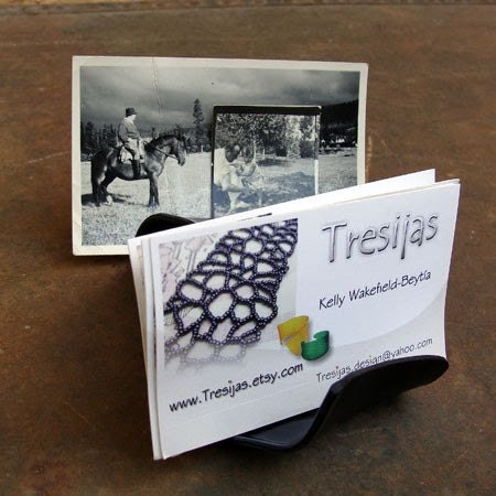 Double Business Card Recycled LP Display