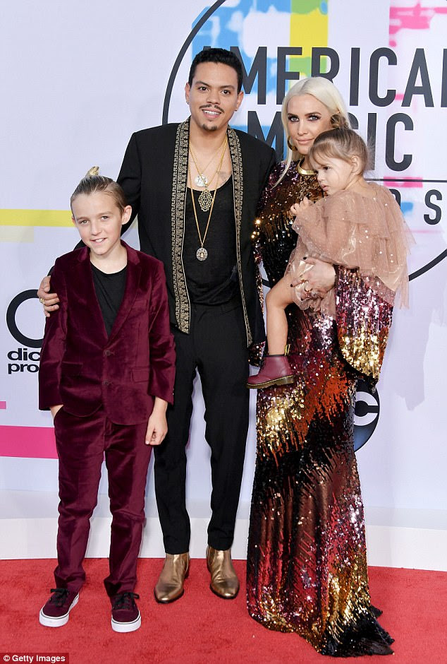 Family affair! Ashlee Simpson was joined by her pride and joy as she attended the American Music Awards in Los Angeles on Sunday
