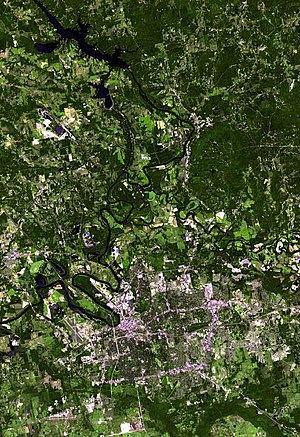 Satellite image of Montgomery, Alabama