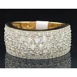 Diamond Wedding Band Ladies 14K Yellow Gold Round Cut Anniversary Ring 1.65 Ct.