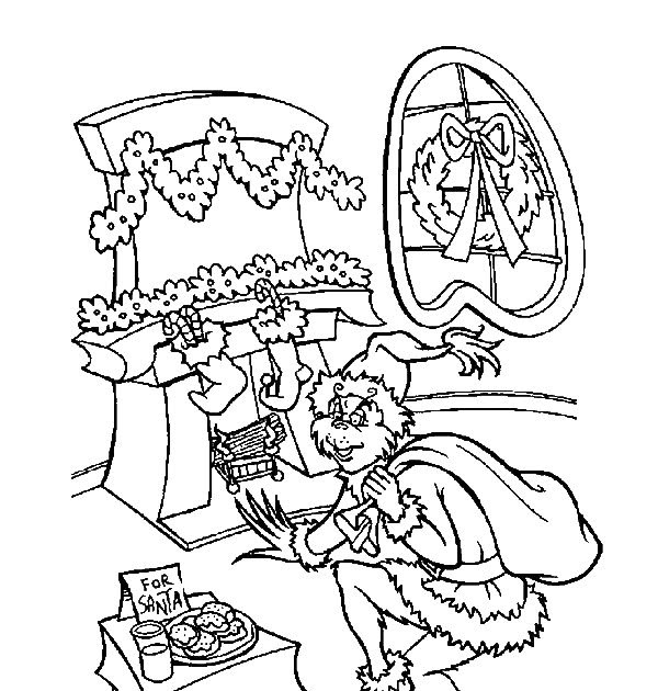 The Grinch Coloring Page Coloring Home - jeffersonclan