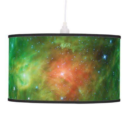Monogram Wreath Nebula, outer space picture Lamp
