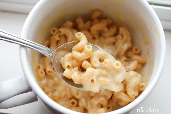 Microwave Single Serve Macaroni and Cheese