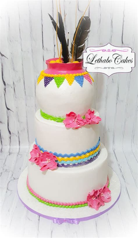 Sepedi African traditional wedding cake   Wedding Cakes in