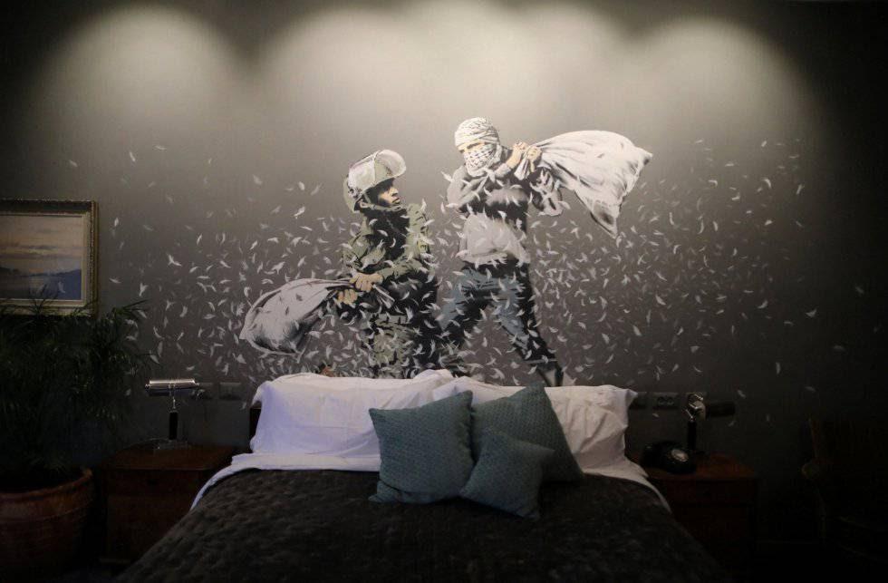 Banksy ofrece habitaciones con vistas al muro de Palestina