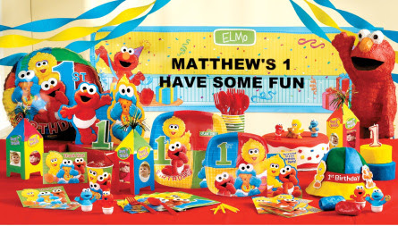 Elmo 1st Birthday Party Sesame Street 1st Birthday Supplies Sesame Street Elmo Greeting Cards Party Supply Complete Party Sets Kits