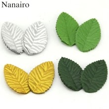 200pcs 4 Color Green Leaves Artificial Flower For Wedding Decoration