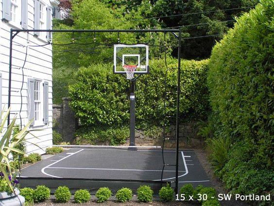 backyard basketball court ideas 22