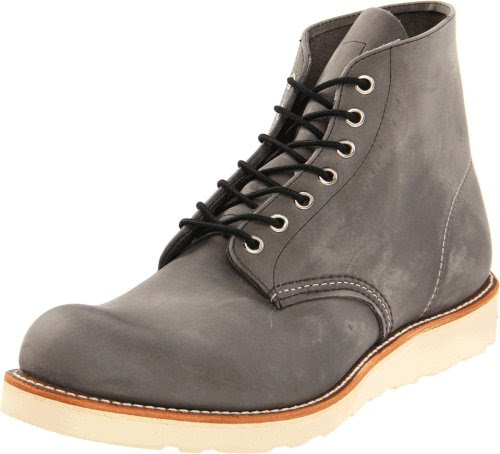 Red Wing Heritage Men's 6 Inch Round Toe Boot,Grey Rough and Tough,8 D US
