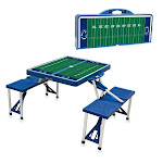 Picnic Time 811-00-139-495-0 Pennsylvania State Nittany Lions Digital Print Portable Folding Picnic Table with Four Seats Blue