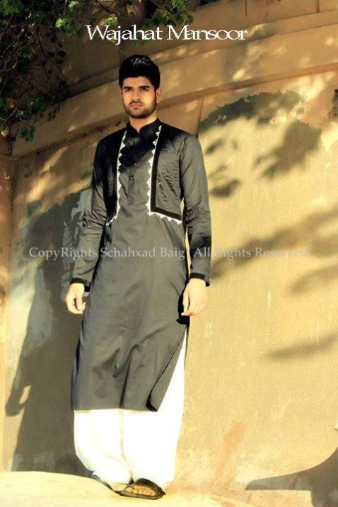 Wajahat-Mansoor-Latest-Summer-Eid-Kurta-Pajama-Salwar-Kameez-Collection-2013-Mens-Boys-11