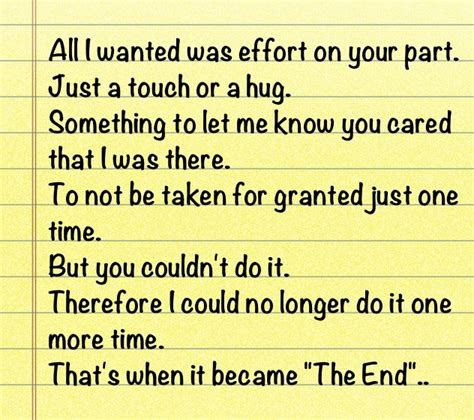 Taken Love For Granted Quotes