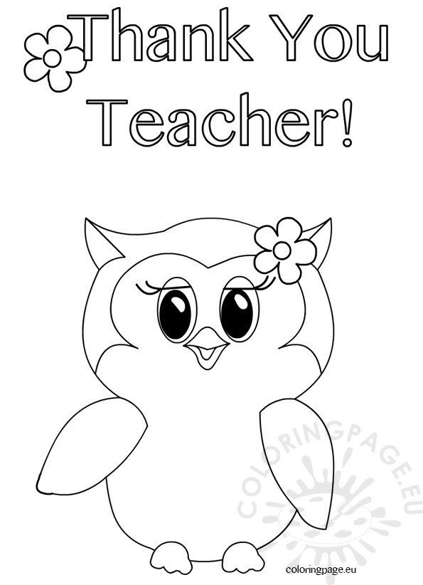 34 Thank You Coloring Pages For Teachers - Free Printable Coloring Pages