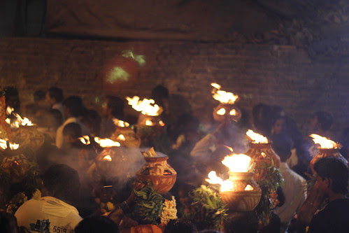 Carrying Burning Pots On The Head From The Beach To Marriammen Temple Nehru Nagar Juhu by firoze shakir photographerno1
