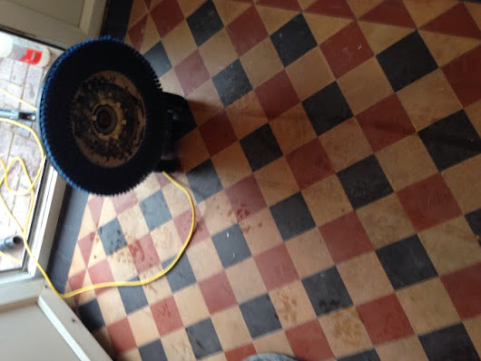 Victorian Floor Cleaned and Repaired in Coundon | Warwickshire Tile Doctor