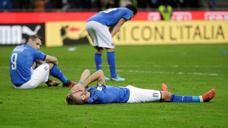 The goalless draw meant Italy failed to reach the World Cup finals for the first time since 1958 [Max Rossi/Reuters]