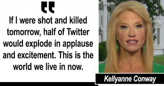 Conway: 'If I Were Shot and Killed, Half of Twitter Would Explode in Applause'