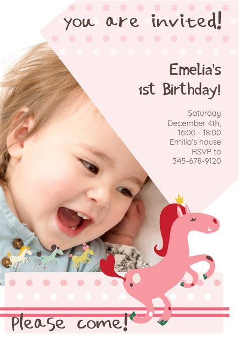 Prancing Pony   Birthday Invitation Template (Free