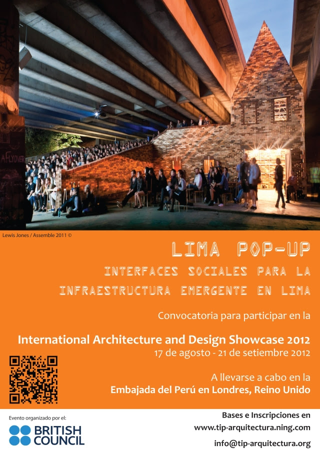 Convocatoria para Participar en la International Architecture and Design Showcase en la Embajada del Peru en Londres