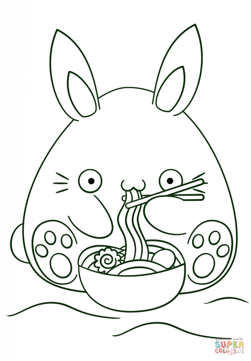 77 Kawaii Animals Coloring Pages Pictures